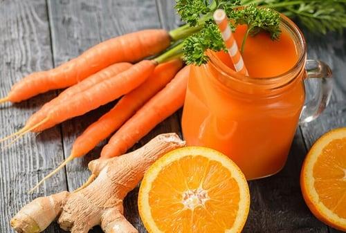 jus carotte orange gingembre